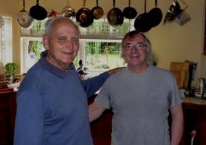 Stephen Dodgson and fellow composer Bill Connor
