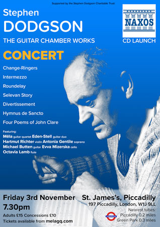 Mela Guitar Quartet CD launch poster