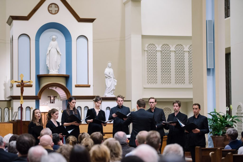 The Marian Consort performs in the chapel of the University of Dayton, Ohio