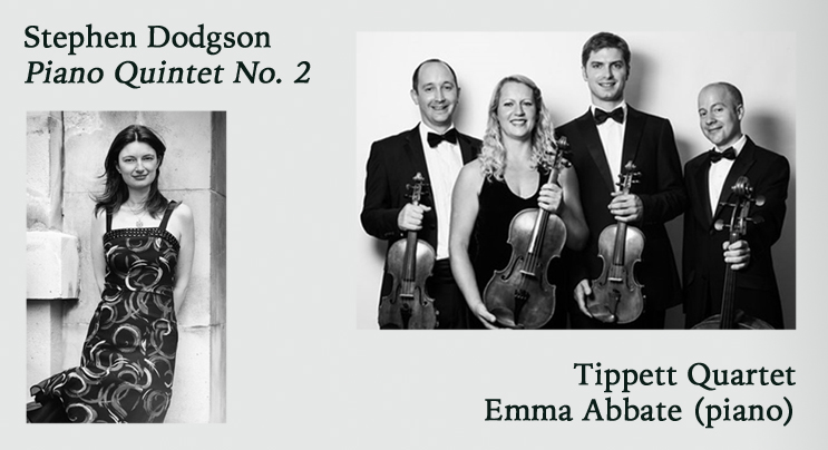 POSTPONED: Piano Quintet No. 2 – Emma Abbate & the Tippett Quartet @ Holmes Chapel Music Society, Cheshire