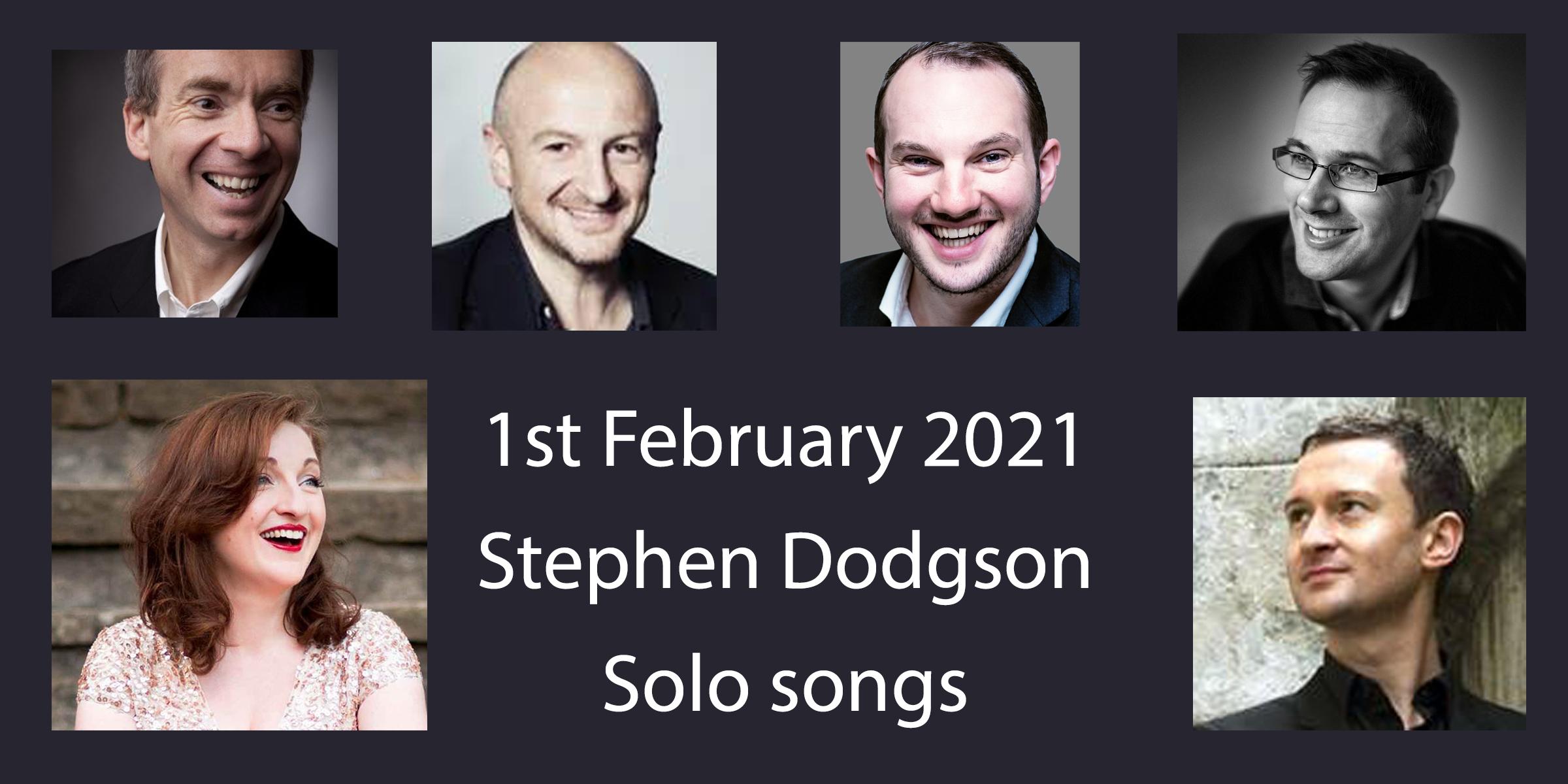 Dodgson solo songs concert