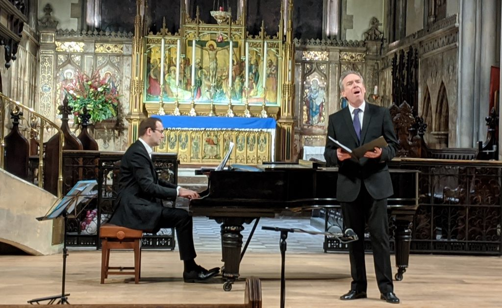 Chris Glynn and James Gilchrist – Dodgson solo concert